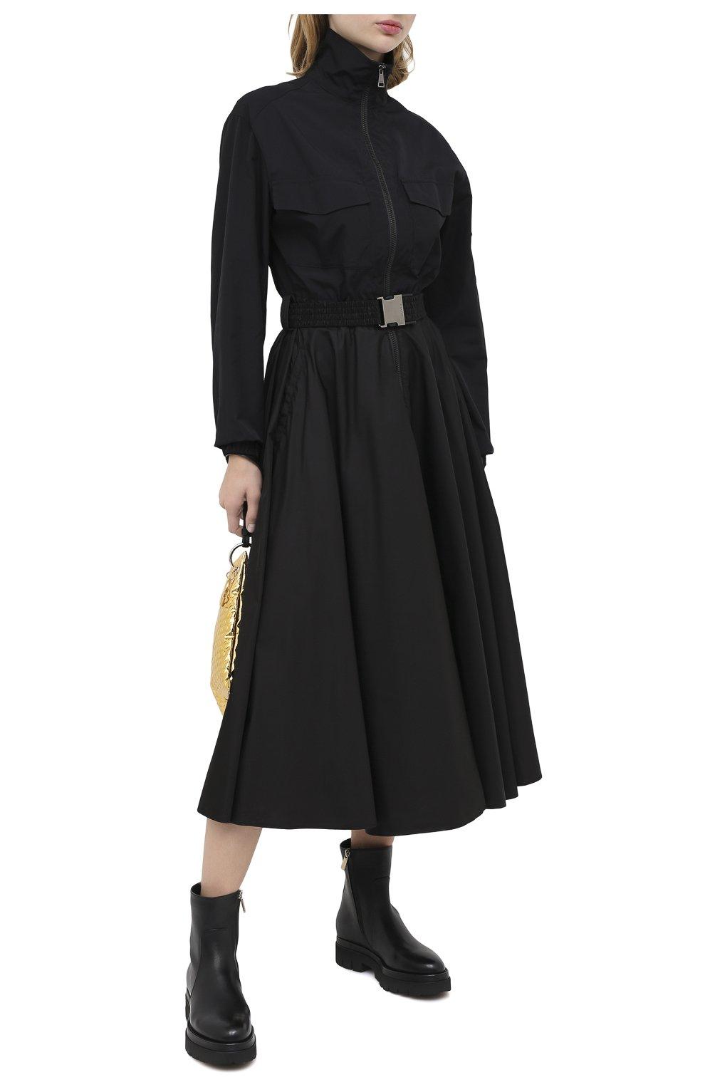 Женские кожаные ботинки SANTONI черного цвета, арт. WTER58956G0MNLMBN01 | Фото 2