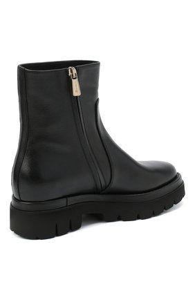Женские кожаные ботинки SANTONI черного цвета, арт. WTER58956G0MNLMBN01 | Фото 4