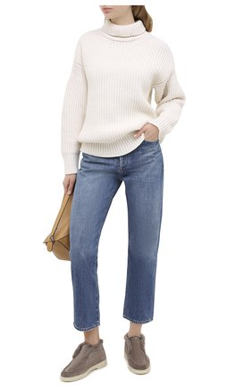 Женские замшевые ботинки SANTONI темно-бежевого цвета, арт. WUYA58457TISAPFRM40 | Фото 2