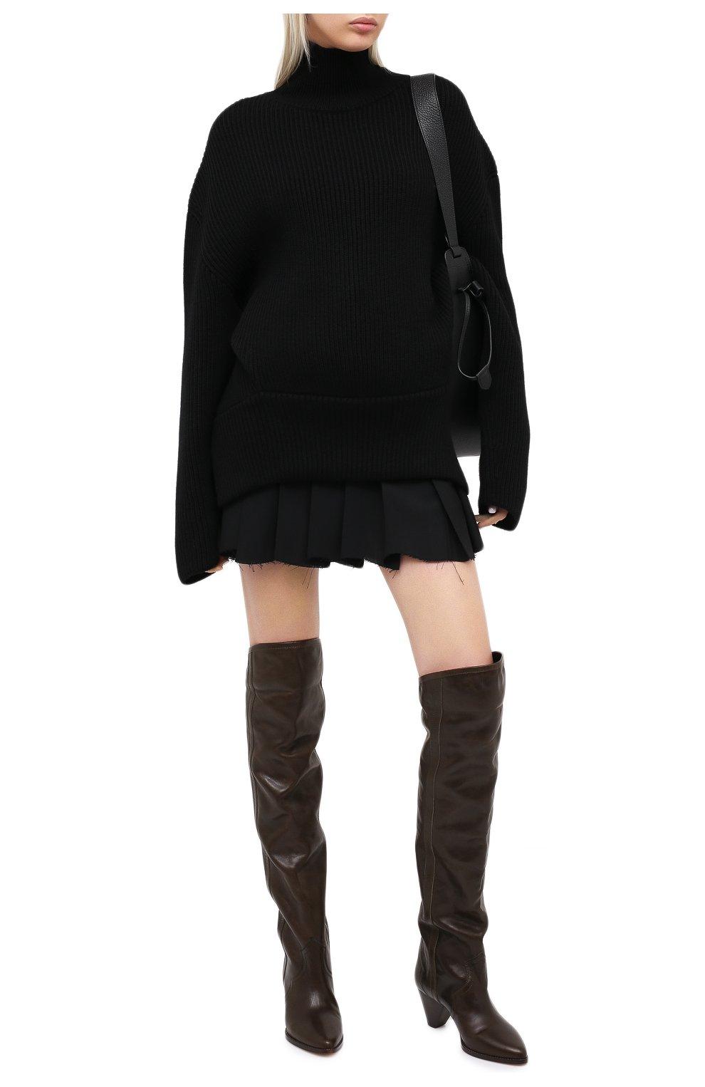 Женские кожаные ботфорты remko ISABEL MARANT темно-коричневого цвета, арт. REMK0/CD0035-20A041S | Фото 2