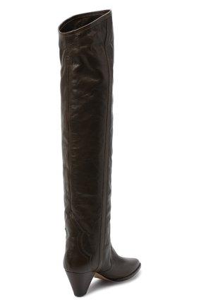 Женские кожаные ботфорты remko ISABEL MARANT темно-коричневого цвета, арт. REMK0/CD0035-20A041S | Фото 4