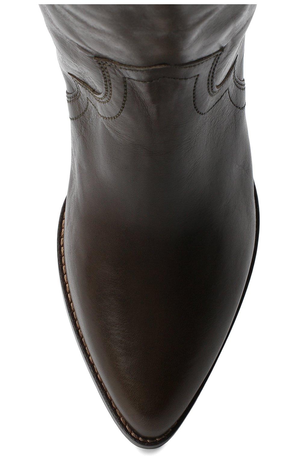 Женские кожаные ботфорты remko ISABEL MARANT темно-коричневого цвета, арт. REMK0/CD0035-20A041S | Фото 5
