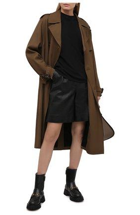 Женские кожаные шорты MASLOV черного цвета, арт. SH001 | Фото 2