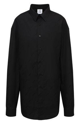 Женская хлопковая рубашка VETEMENTS черного цвета, арт. UAH21SH143 1006/W | Фото 1
