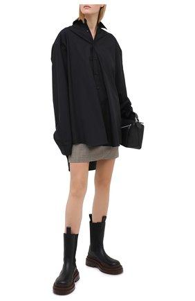 Женская хлопковая рубашка VETEMENTS черного цвета, арт. UAH21SH143 1006/W | Фото 2