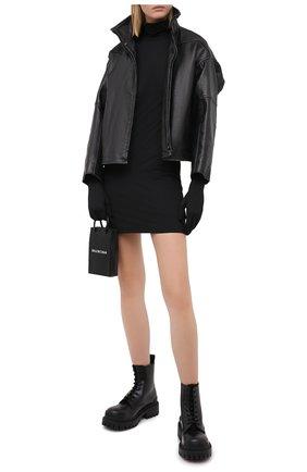 Женское платье VETEMENTS черного цвета, арт. WAH21DR094 2606/BLACK | Фото 2