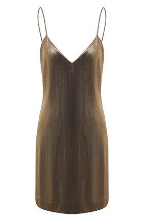 Женское платье VETEMENTS золотого цвета, арт. WAH21DR096 1331/G0LD   Фото 1