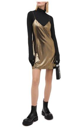 Женское платье VETEMENTS золотого цвета, арт. WAH21DR096 1331/G0LD   Фото 2