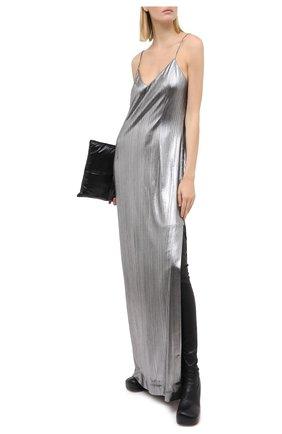 Женское платье VETEMENTS серебряного цвета, арт. WAH21DR901 2607/SILVER   Фото 2
