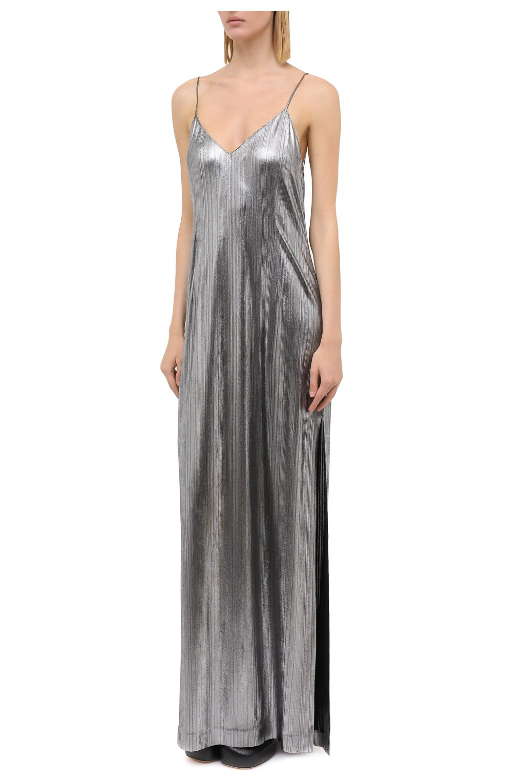 Женское платье VETEMENTS серебряного цвета, арт. WAH21DR901 2607/SILVER | Фото 3