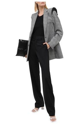 Женский шерстяной жакет VETEMENTS серого цвета, арт. WAH21JA021 1208/BLACK/WHITE CHECK | Фото 2