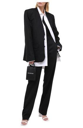 Женские шерстяные брюки VETEMENTS черного цвета, арт. WAH21PA079 1204/BLACK   Фото 2