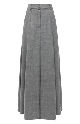 Женская шерстяная юбка VETEMENTS серого цвета, арт. WAH21SK111 1205/BLACK/WHITE CHECK | Фото 1