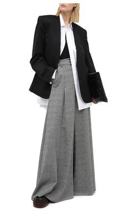 Женская шерстяная юбка VETEMENTS серого цвета, арт. WAH21SK111 1205/BLACK/WHITE CHECK | Фото 2
