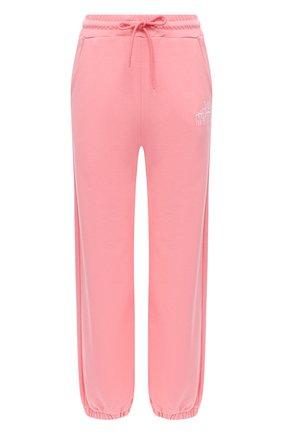 Женские хлопковые джоггеры MSGM розового цвета, арт. 2941MDP60 207799 | Фото 1