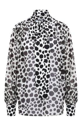 Женская блузка MSGM черно-белого цвета, арт. 2941MDM12Y 207687 | Фото 1