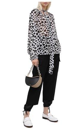 Женская блузка MSGM черно-белого цвета, арт. 2941MDM12Y 207687 | Фото 2