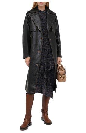 Женское пальто MSGM черного цвета, арт. 2941MDC06 207670 | Фото 2