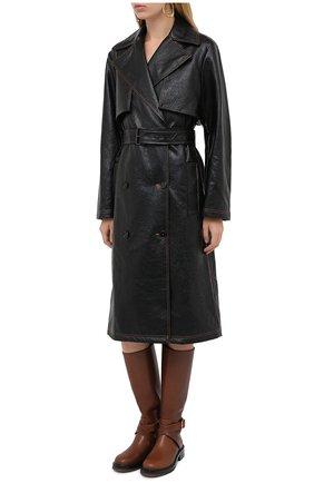 Женское пальто MSGM черного цвета, арт. 2941MDC06 207670 | Фото 3