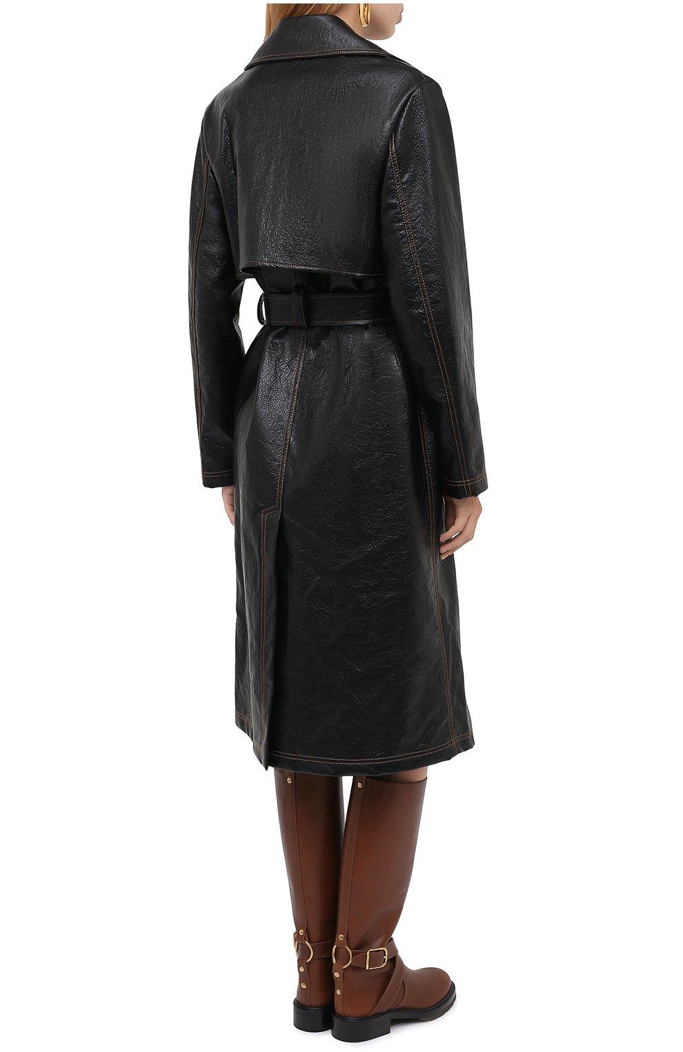 Женское пальто MSGM черного цвета, арт. 2941MDC06 207670 | Фото 4