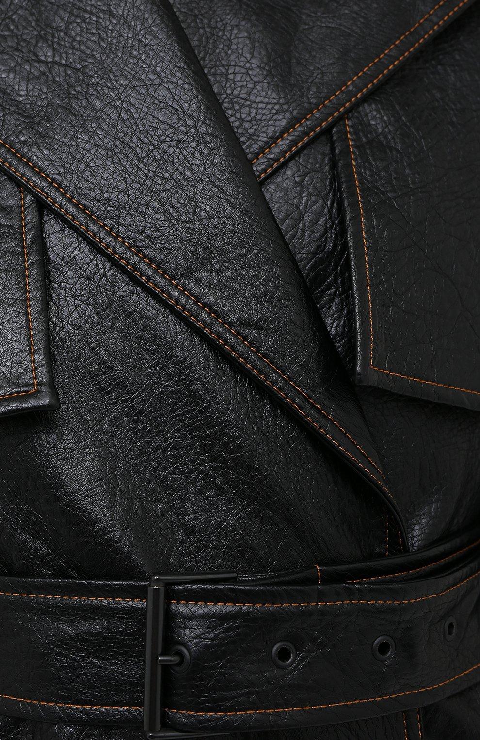 Женское пальто MSGM черного цвета, арт. 2941MDC06 207670 | Фото 5