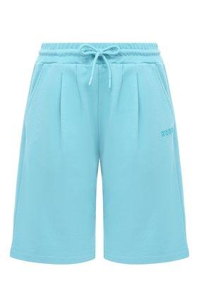 Женские хлопковые шорты MSGM голубого цвета, арт. 2941MDB60 207799 | Фото 1
