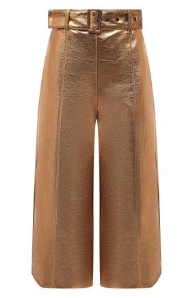 Женские брюки MSGM бронзового цвета, арт. 2941MDB10 207684 | Фото 1