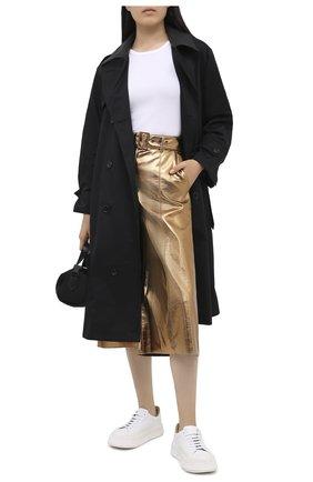Женские брюки MSGM бронзового цвета, арт. 2941MDB10 207684 | Фото 2