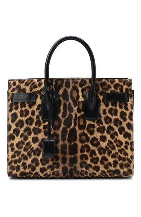 Женская сумка sac de jour SAINT LAURENT леопардового цвета, арт. 398709/1ZR2W | Фото 1