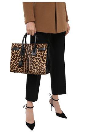 Женская сумка sac de jour SAINT LAURENT леопардового цвета, арт. 398709/1ZR2W | Фото 2