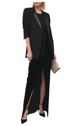 Женская юбка SAINT LAURENT черного цвета, арт. 627256/Y525R   Фото 2