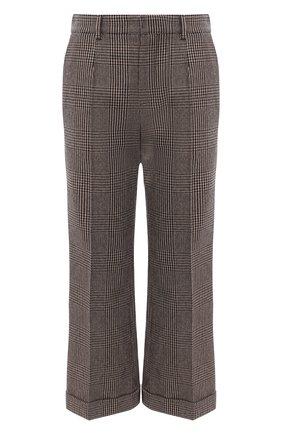Женские шерстяные брюки SAINT LAURENT серого цвета, арт. 635947/Y5B64 | Фото 1