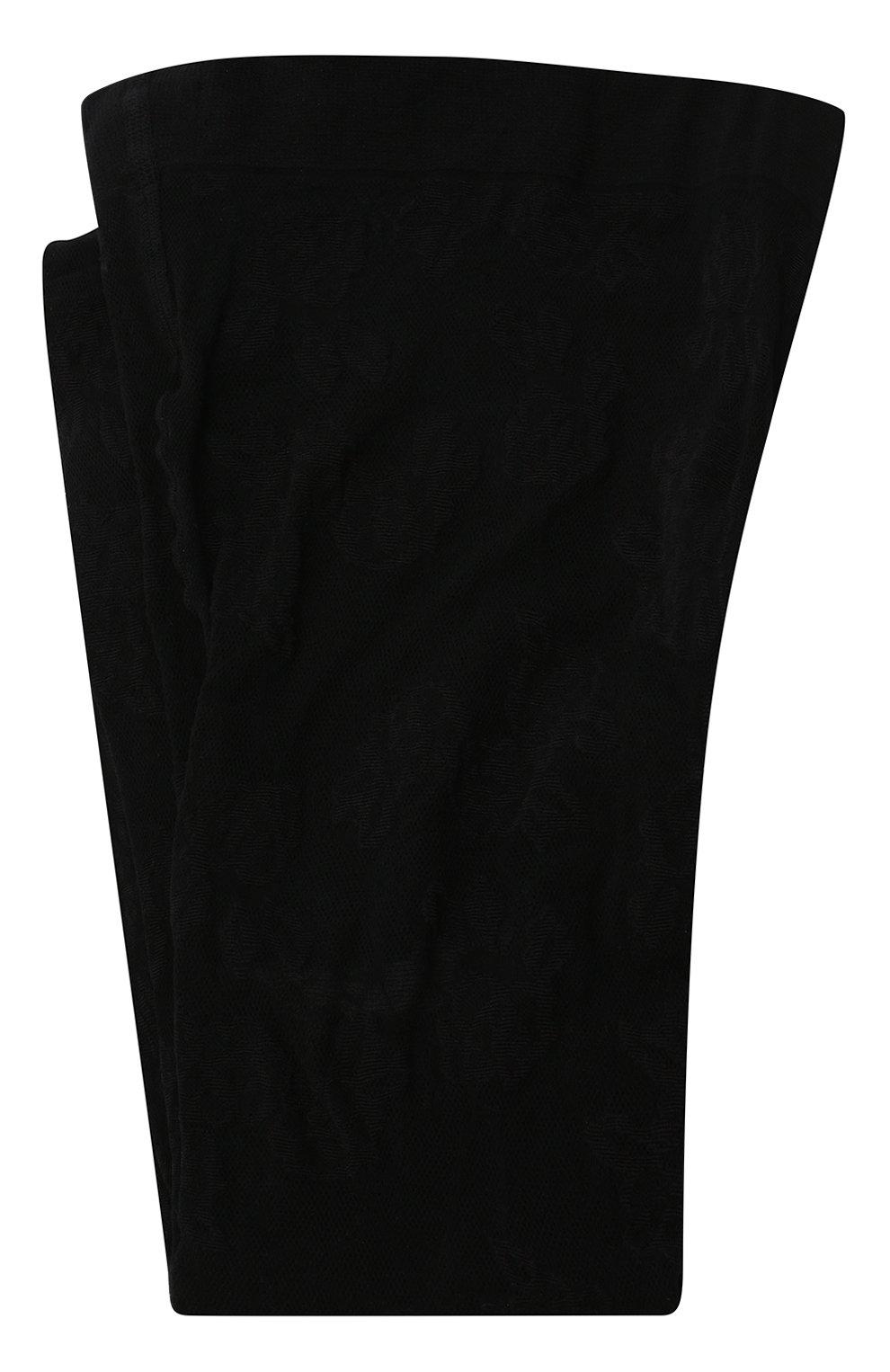 Женские колготки SAINT LAURENT черного цвета, арт. 636080/YBXM2   Фото 1 (Материал внешний: Синтетический материал)