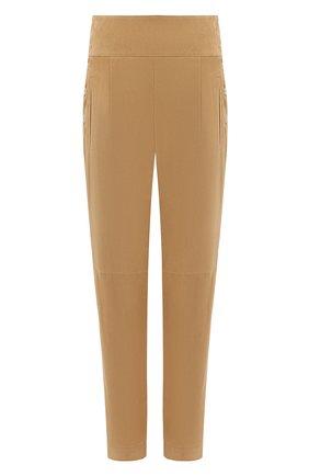 Женские замшевые брюки RALPH LAUREN бежевого цвета, арт. 290815830 | Фото 1