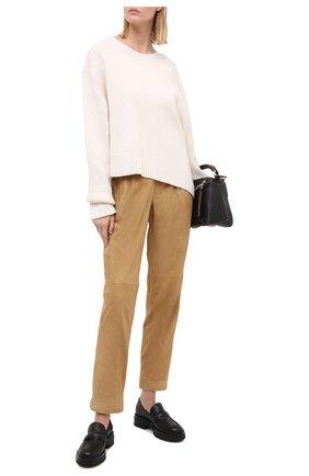 Женские замшевые брюки RALPH LAUREN бежевого цвета, арт. 290815830 | Фото 2