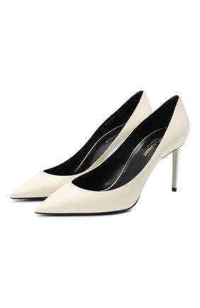 Женская кожаные туфли zoe SAINT LAURENT белого цвета, арт. 529731/1ZJ00 | Фото 1