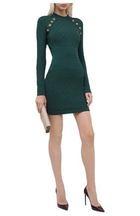 Женская кожаные туфли zoe SAINT LAURENT бордового цвета, арт. 529733/1TV00 | Фото 2