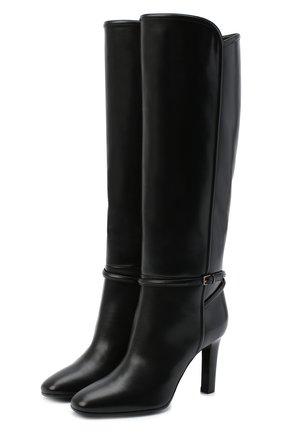 Женские кожаные сапоги jane SAINT LAURENT черного цвета, арт. 632629/1YU00   Фото 1
