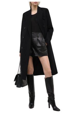 Женские кожаные сапоги jane SAINT LAURENT черного цвета, арт. 632629/1YU00   Фото 2