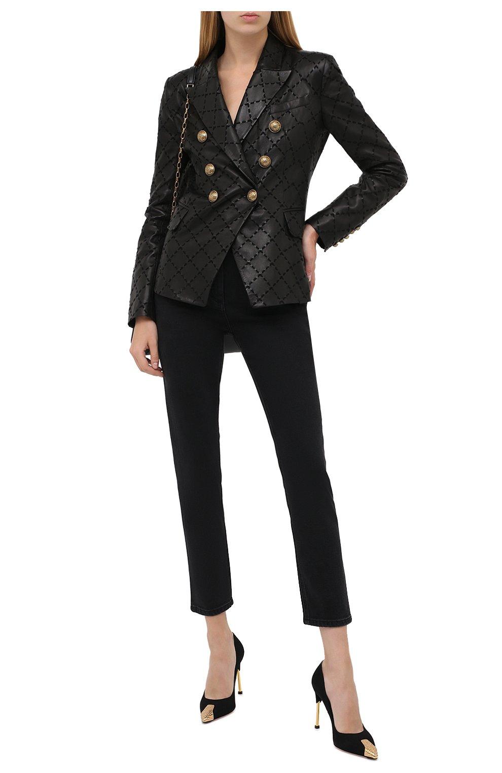 Женские джинсы BALMAIN темно-серого цвета, арт. UF15515/D047 | Фото 2