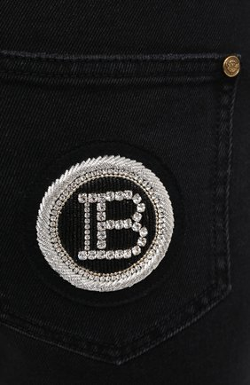 Женские джинсы BALMAIN темно-серого цвета, арт. UF15515/D047 | Фото 6