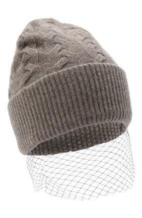 Женский кашемировая шапка FTC коричневого цвета, арт. 800-1600 | Фото 1