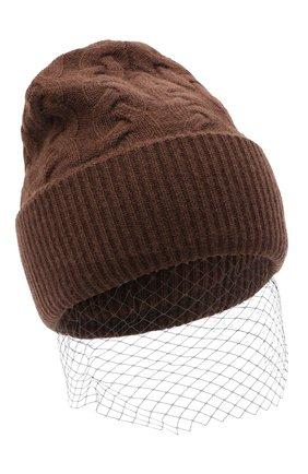 Женская кашемировая шапка FTC коричневого цвета, арт. 800-1600   Фото 1
