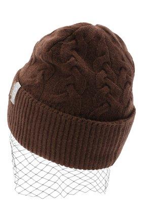 Женская кашемировая шапка FTC коричневого цвета, арт. 800-1600   Фото 2