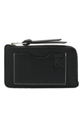 Женский кожаный футляр для кредитных карт LOEWE черного цвета, арт. 124.12.U04   Фото 1