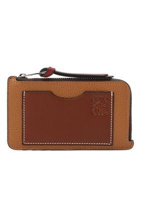 Женский кожаный футляр для кредитных карт LOEWE светло-коричневого цвета, арт. 124.12.U04 | Фото 1