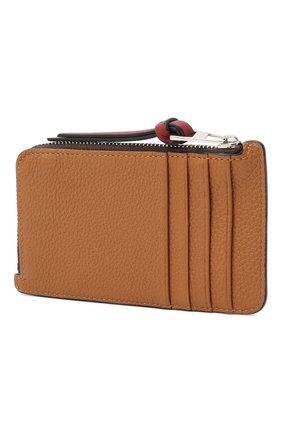 Женский кожаный футляр для кредитных карт LOEWE светло-коричневого цвета, арт. 124.12.U04 | Фото 2