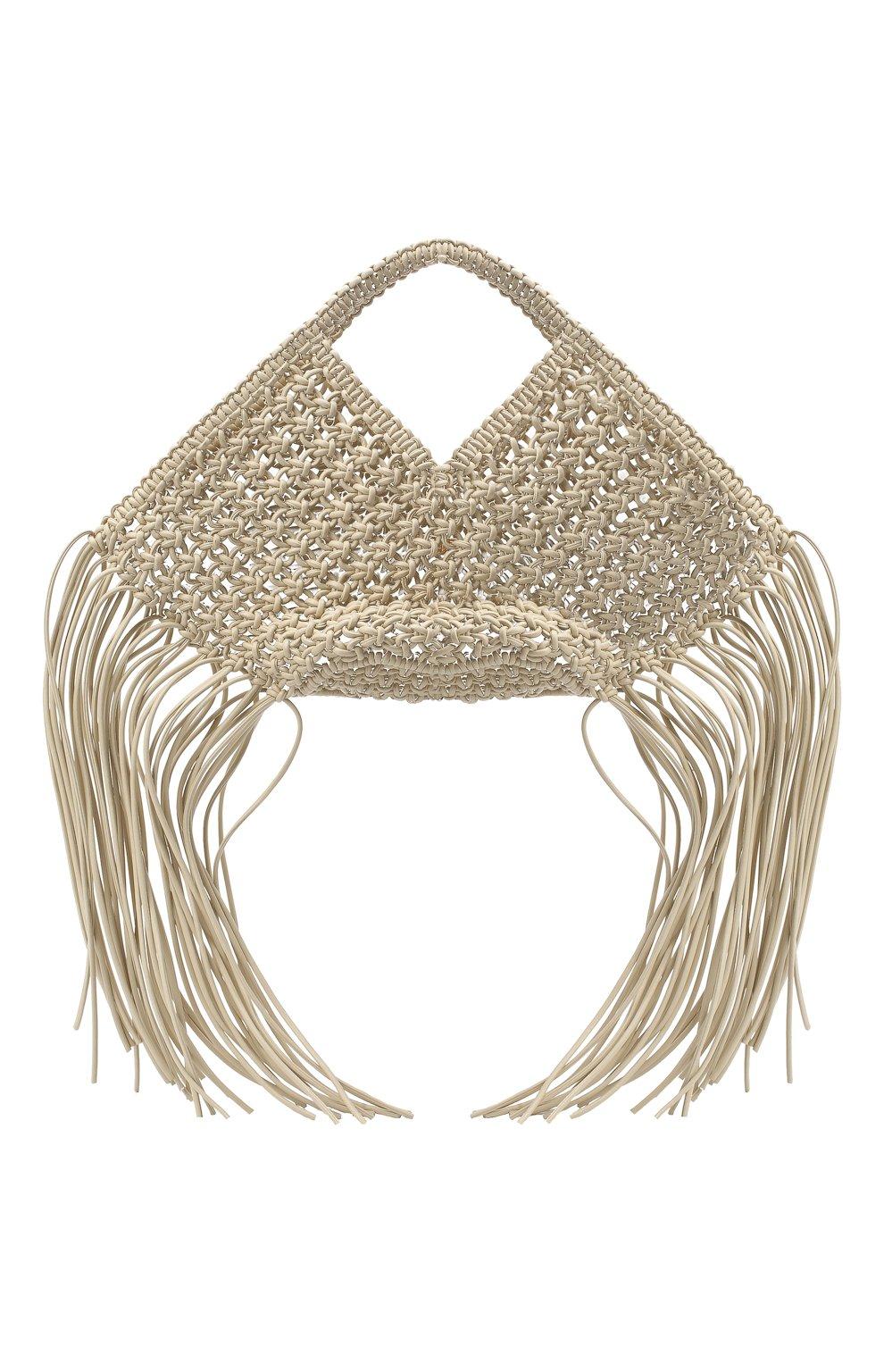 Женский сумка basket YUZEFI светло-бежевого цвета, арт. YUZPF20-SW-01 | Фото 1 (Сумки-технические: Сумки-шопперы; Ошибки технического описания: Нет ширины; Размер: medium; Материал: Текстиль)