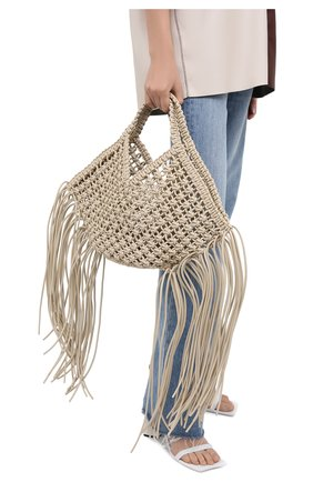 Женский сумка basket YUZEFI белого цвета, арт. YUZPF20-SW-01 | Фото 2