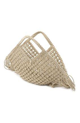 Женский сумка basket YUZEFI светло-бежевого цвета, арт. YUZPF20-SW-01 | Фото 4 (Сумки-технические: Сумки-шопперы; Ошибки технического описания: Нет ширины; Размер: medium; Материал: Текстиль)